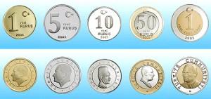 Монеты в Турции
